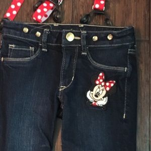 H&M Bottoms - H&M Minnie Mouse Jeans with suspenders
